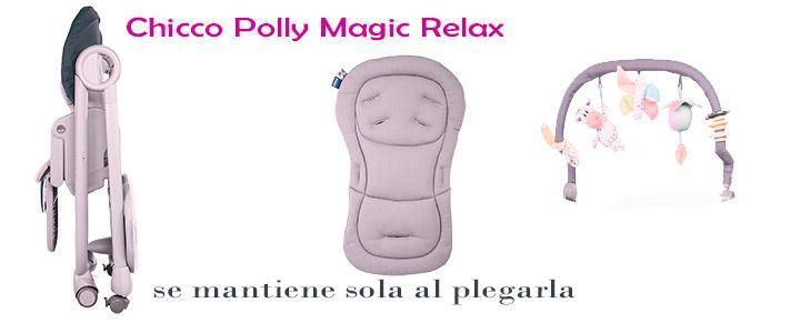 Opiniones sobre la trona hamaca Chicco Polly Magic y sus accesorios