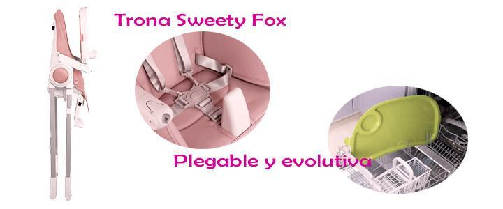 Características de la trona evolutiva Sweety Fox