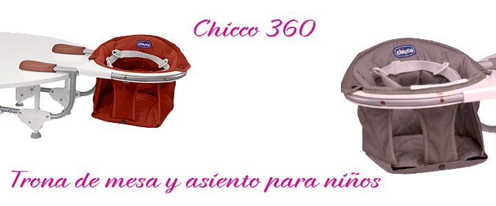 Trona Chicco 360 para usar como silla de mesa para niños
