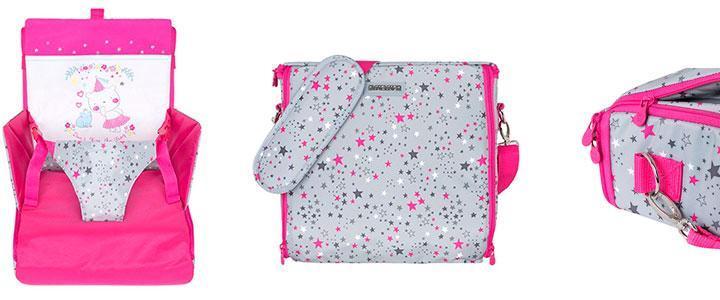 Trona portátil Tuc Tuc de color rosa