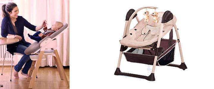 Tronas convetibles en hamacas de bebé